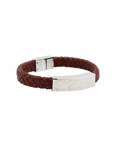Gents Celtic Brown Leather Bracelet