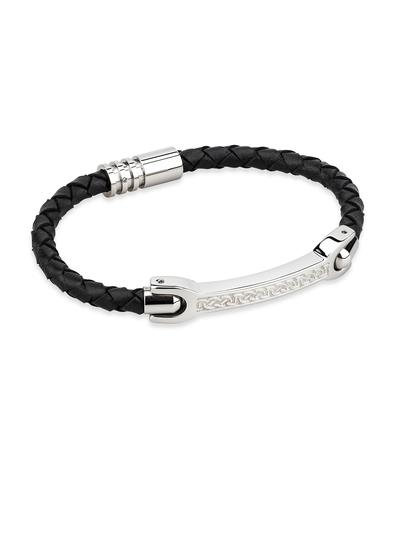 Gents Celtic Knot Leather Bracelet