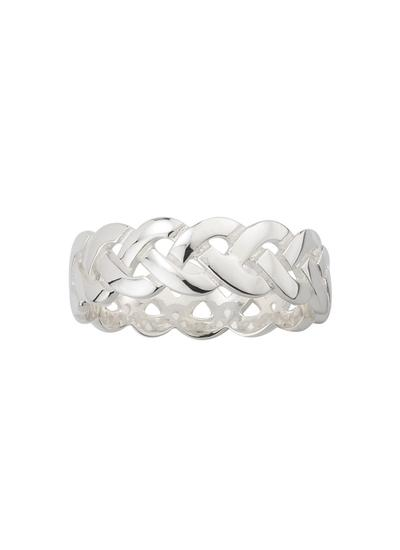 Gents Sterling Silver Celtic Knot Band