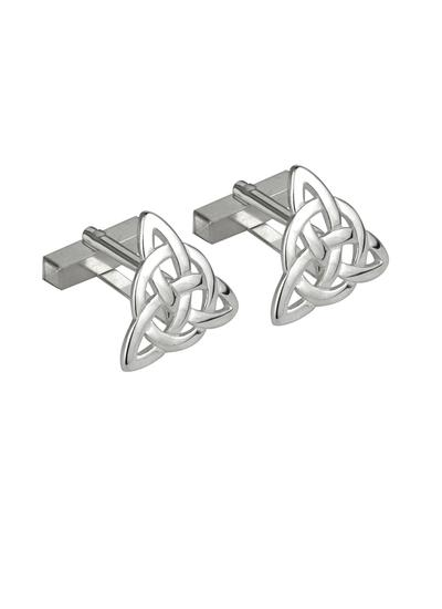 Gents Sterling Silver Trinity Knot Cufflinks
