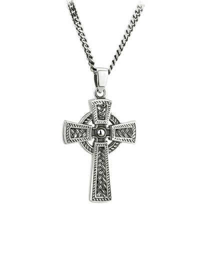 Gents Sterling Silver Celtic Cross Pendant