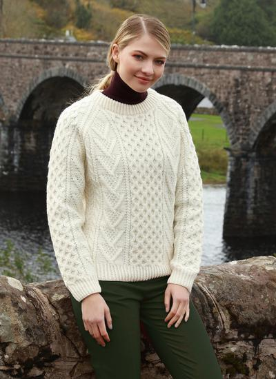 Traditional Hand-Knit Aran Sweater