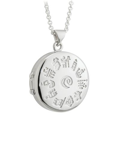 Sterling Silver History Of Ireland Locket