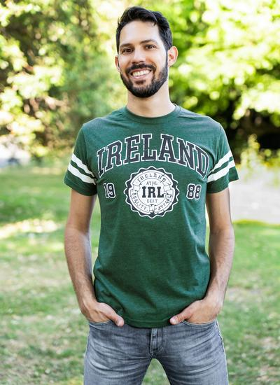 Ireland Stripe Sleeve T-Shirt