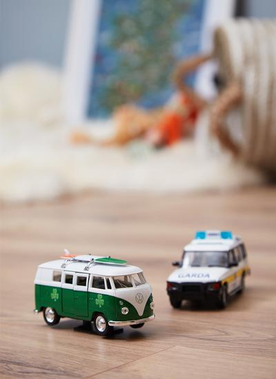 Campervan with Irish Tricolor Surfboard Model