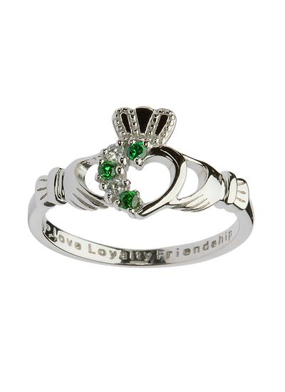 Sterling Silver Claddagh Heart Set Ring