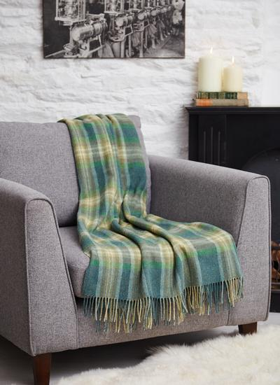 Rolling Irish Meadows Lambswool Throw