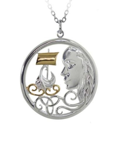 Sterling Silver Irish Pirate Queen Pendant