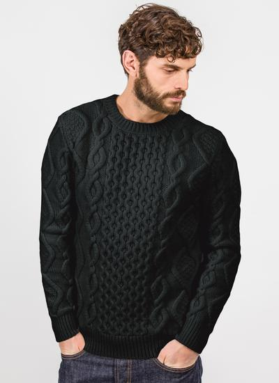 John Crew Neck Aran Sweater