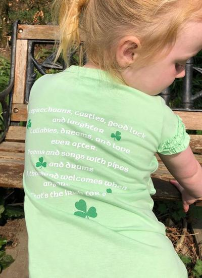 Girls Irish Blessing Frill T-Shirt