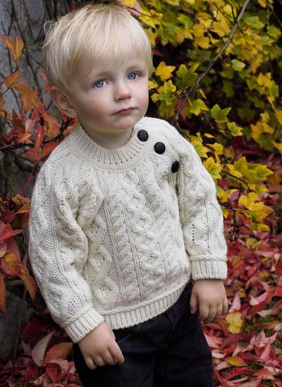 Baby Aran Crew Neck Sweater