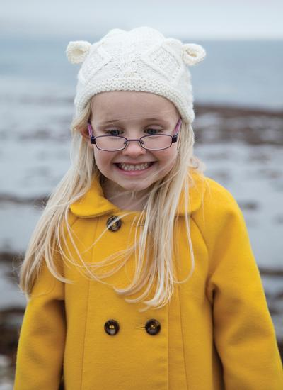 Kids Hand-Knit Aran Hat with Ears