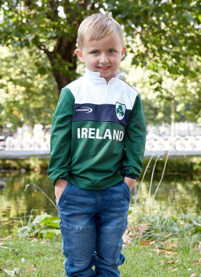 Kids Ireland Three Shamrock Rugby Shirt