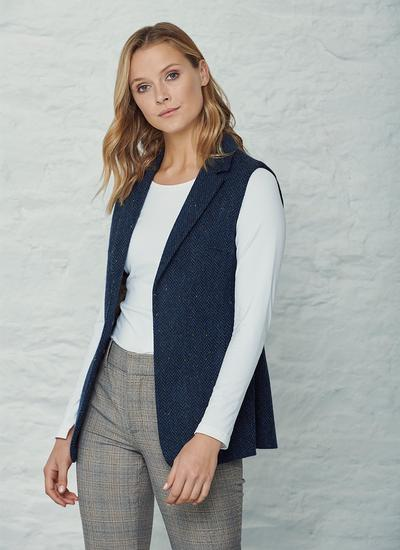 Ladies Tweed Gilet