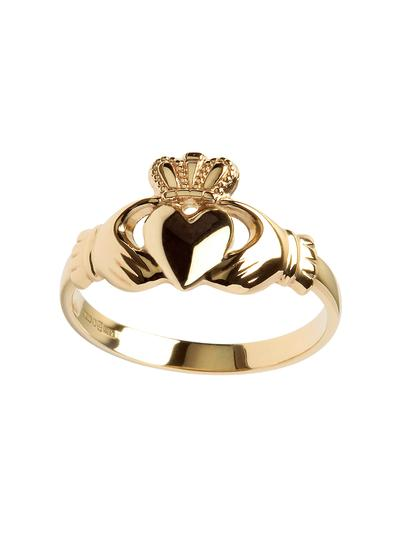 Ladies 10K Gold Claddagh Ring