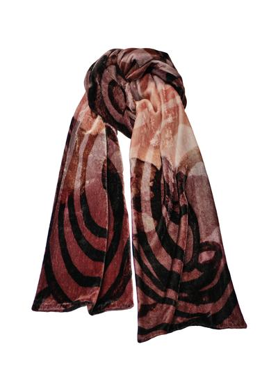 Celtic Swirl Double Velour Scarf - Mocha