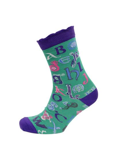 Set of 2 Ladies Celtic Alphabet Socks