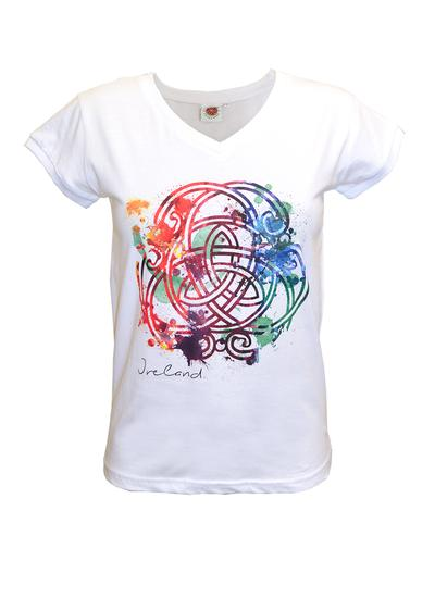Ladies White Celtic Knot T-Shirt
