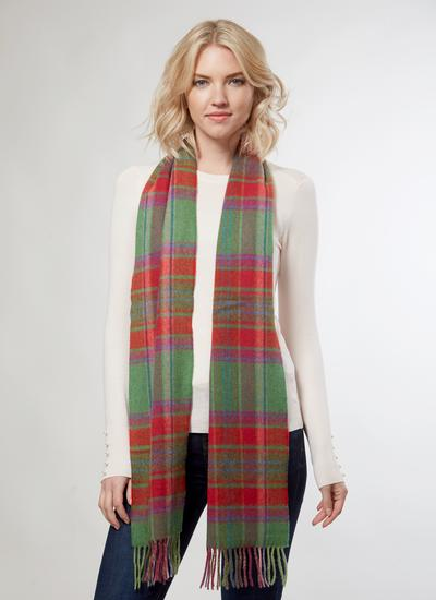 Lambswool Scarf Fall Check