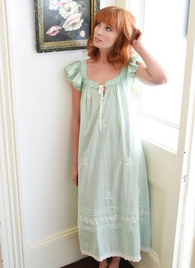 Margo Green Cotton Nightgown