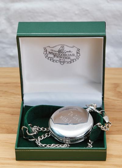 Engraved Celtic Shamrock Pocket Watch
