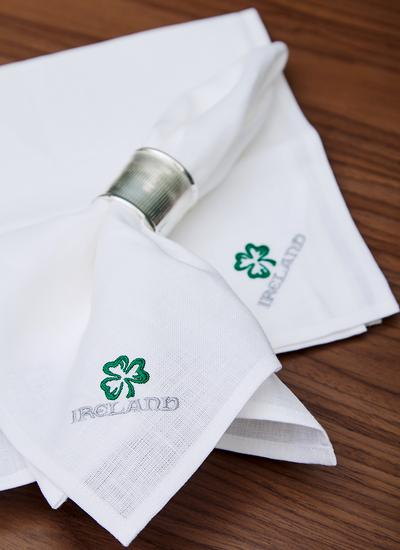 Blarney Irish Linen Embroidered Napkins