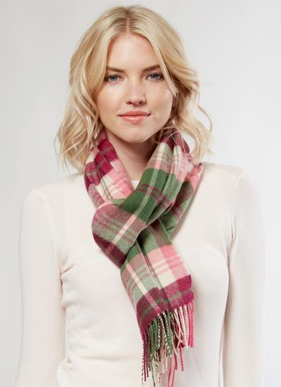 Extra Fine Merino Wool Scarf Emerald & Heather