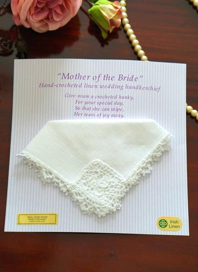 Mother Of The Bride Linen Handkerchief