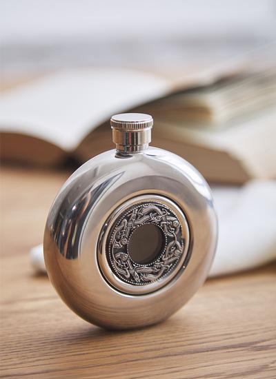 Kells Round Whiskey Flask