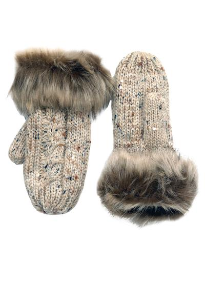 Oatmeal Speckle Wool Mittens