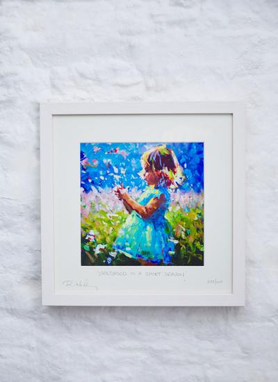 Childhood Is A Short Season Framed Print