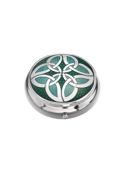 Celtic Knot Circles Pillbox