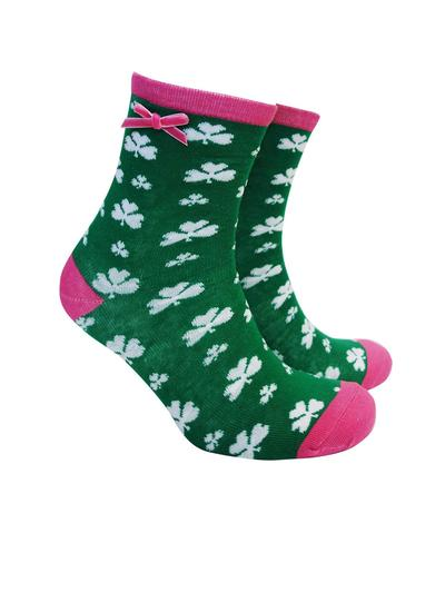 Set of 4 Ladies Shamrock Irish Socks