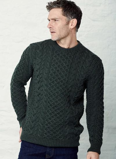 Robin Crew Neck Aran Sweater