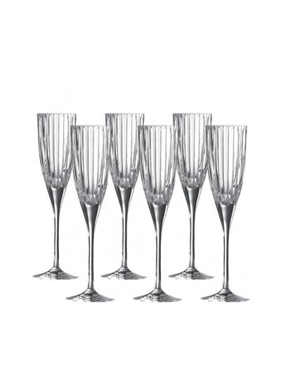 Royal Doulton Linear Champagne Flute Set of 6
