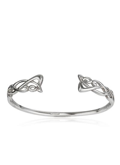 Sterling Silver Celtic Torc Bangle
