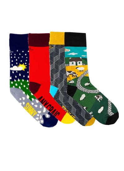Set of 4 Ladies Irish Humor Socks