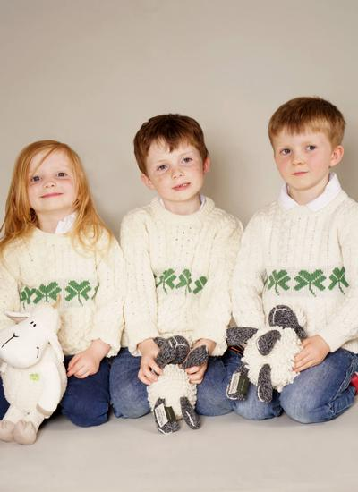Kids Shamrock Aran Sweater