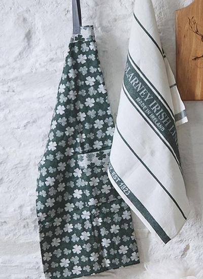 Shamrock Cotton Linen Apron