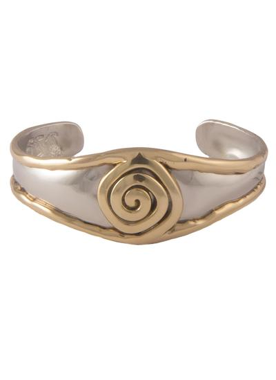 Ancient East Silver & Brass Spiral Bangle