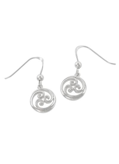 Sterling Silver Celtic Scroll Drop Earrings