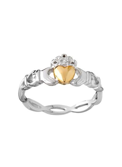 Sterling Silver & 10K Gold Claddagh Ring
