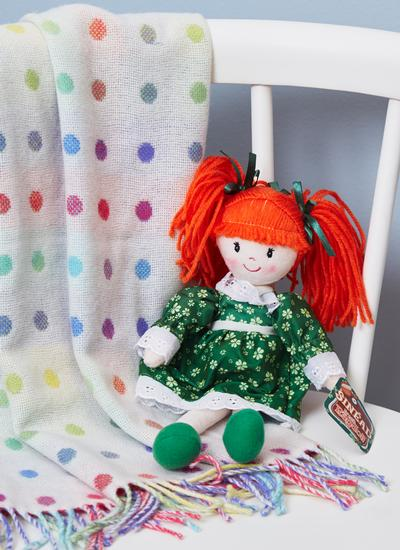 Sinead Irish Rag Doll With Shamrock Dress