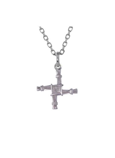 Small Sterling Silver St. Brigid's Cross Pendant