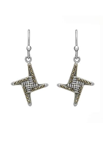 St. Brigid's Cross Marcasite Earrings