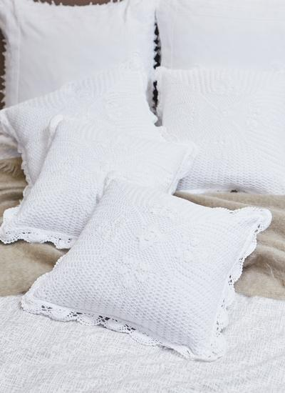 Star Crochet Cushion Cover Set of 2