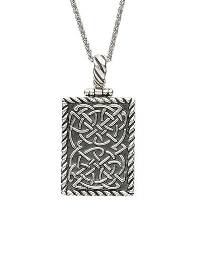 Sterling Silver Celtic Dog Tag Pendant