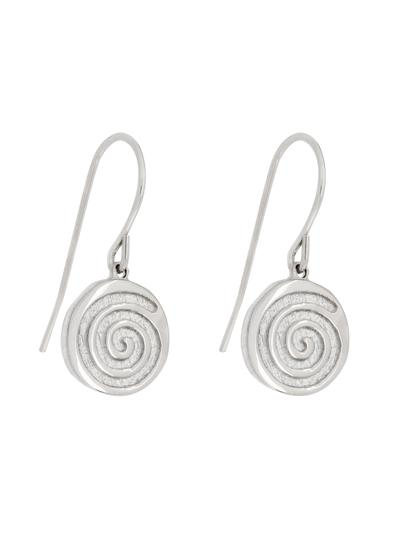 Sterling Silver Celtic Spiral Drop Earrings