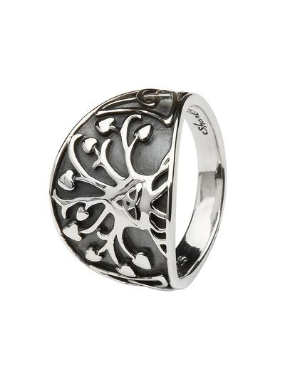 Sterling Silver Large Tree of Life Ring