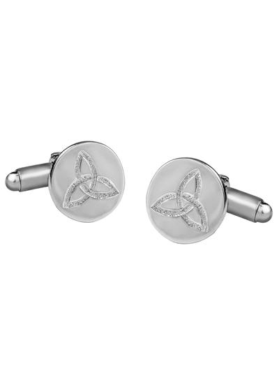 Sterling Silver Trinity Knot Cufflinks